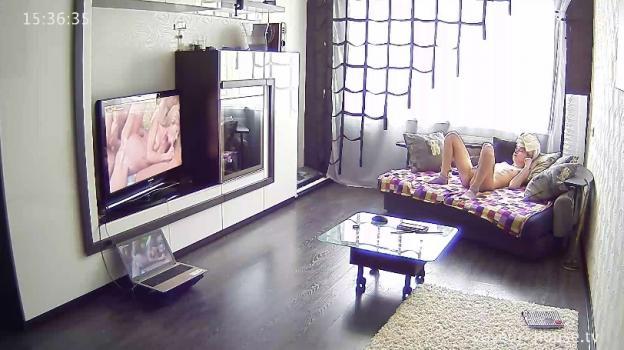 Voyeur-house.tv- Anna bating watching porn