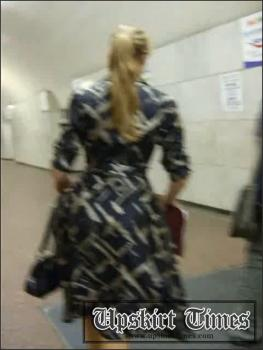 Upskirt-times.com- Ut_0109# A blond in a light dress and transparent black panties! Cool butt! I shot many...