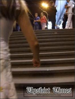 Upskirt-times.com- Ut_0126# A gorgeous chick in a white dress. I saw her in a passage in the evening and...