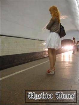 Upskirt-times.com- Ut_0140# Red-haired beauty in a short white skirt. The draught helped me a lot_but she...
