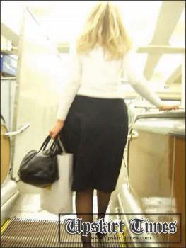 Upskirt-times.com- Ut_0145# A blond in a black skirt. She noticed me because I was too interested in her....