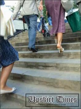 Upskirt-times.com- Ut_0178# I caught up this blond at a passage! I upskirted her only once_because she...
