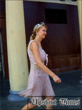 Upskirt-times.com- Ut_0227# A hot sweet blond in a light dress. I crept under her skirt and took photos of...