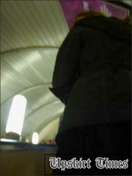 Upskirt-times.com- Ut_0233# A beautiful chick in short black skirt and black tights! She noticed me and I...