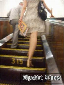 Upskirt-times.com- Ut_0363# This sweet fem was elevating at the escalator. I crept under her skirt and...