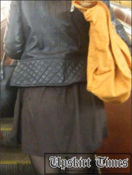 Upskirt-times.com- Ut_0440# I met a nice brunette in a black mini-skirt. I crept under her skirt twice,...