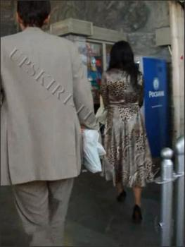 Upskirt-times.com- Ut_0621# I met a brunette in long dress! The draught helped me and I could raise her...