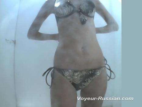 Hidden-Zone.com- Pv544# A young tanned blonde undresses and dresses a swimsuit. The whole process of changing it was