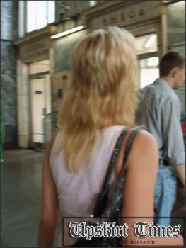 Upskirt-times.com- Ut_0762# I met a cute blond in a short coloured skirt and decided to follow her. She...