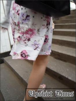 Upskirt-times.com- Ut_0815# I caught up with this slender blonde in white skirt at the stairs and saw her...