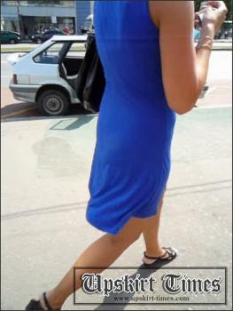 Upskirt-times.com- Ut_0862# Bronzed girl in devilish short blue dress. I managed to catch her up at the...