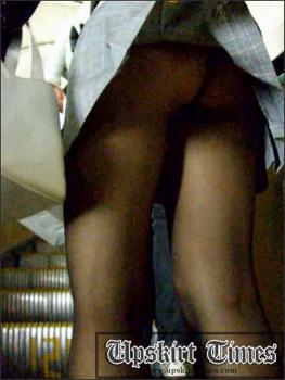 Upskirt-times.com- Ut_1025# A blond girl in a miniskirt_she had such a beautiful ass in black stockings...