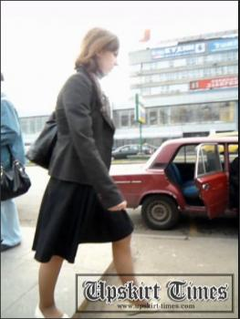Upskirt-times.com- Ut_1172# Girl in a black baggy shirt! She was in a hurry_but I was able to catch up...