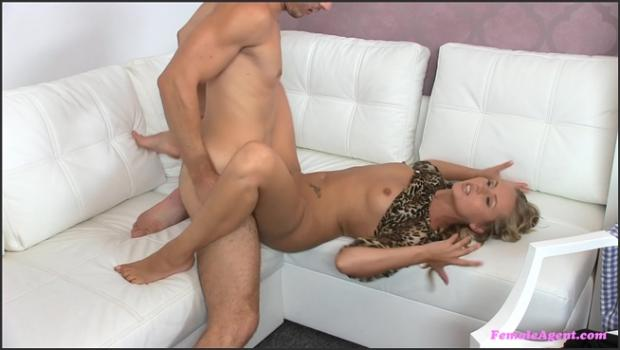 Fakehub.com- A Thick Dick Satisfies Horny Agent_s Wet Pussy