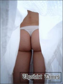 Upskirt-times.com- Ut_1185# Blonde in a white sarafan_a great girl upskirt movies model! I_ve got lucky...