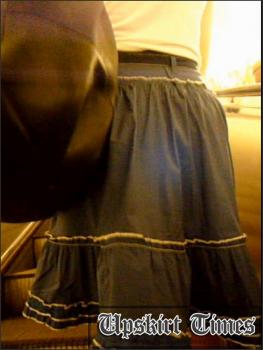 Upskirt-times.com- Ut_1203# Here comes nice dolly in short blue skirt! It was draft that helped me to see...