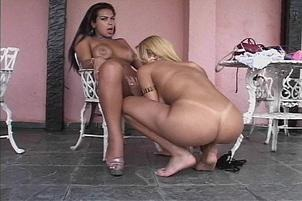 Awesomeinterracial.com- Stacked Brunette Shemale Loves Big Cocks