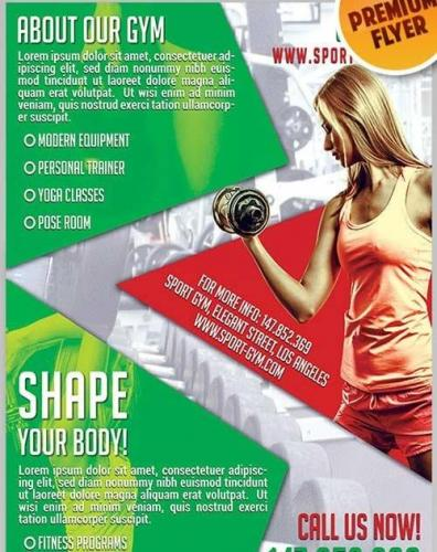 Shape Your Body Flyer PSD Template