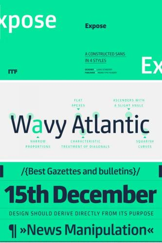 Expose Font Family