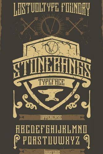Stonebangs Typeface 9604669