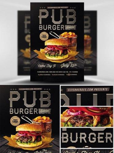 Pub Burger Flyer Template
