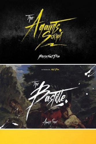 Againts Script Font Duo