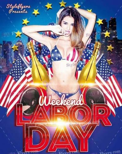 Labor Day Weekend PSD Flyer Template