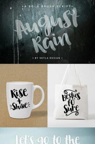 Brush font - August Rain