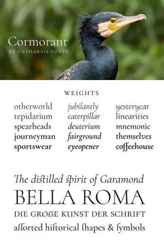 Cormorant Set of 45 fonts