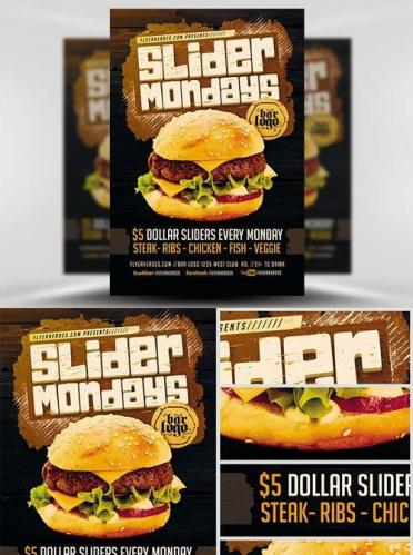 Slider Mondays Flyer Template