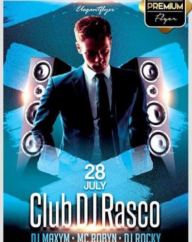 Club DJ Rasco V1 Flyer PSD Template