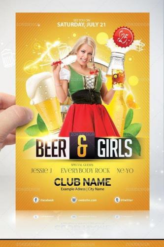 Beer & Girls - Flyer PSD Template