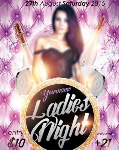 Ladies Night V15 PSD Flyer Template