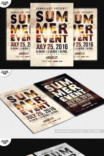 SUMMER BEACH EVENT Flyer Template 611220