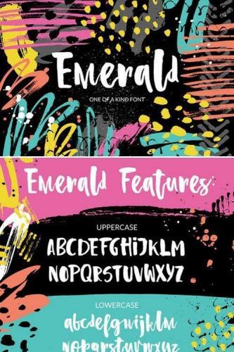 Emerald - playful brush font