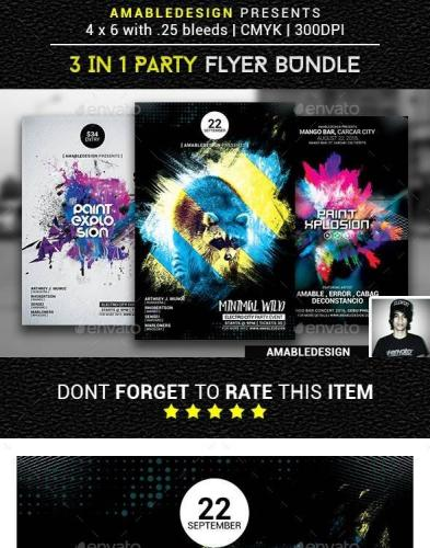 3 in 1 Party Flyer-Poster Vol.3
