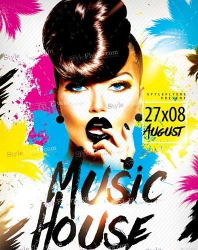 Music House PSD Flyer Template