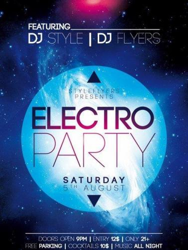Electro Party PSD Flyer Template