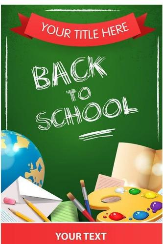 Back to school banner, sign and poster