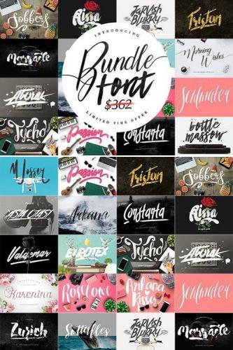 Font Bundle and  Graphic