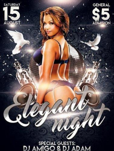 Elegant Night PSD Flyer Template