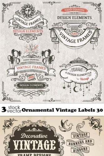 Ornamental Vintage Labels 30