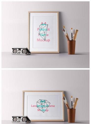 PSD Wood Frame Mockup Vol 2