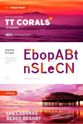 TT Corals Font Family