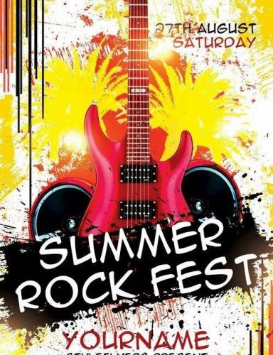 Summer Rock Fest PSD Flyer Template