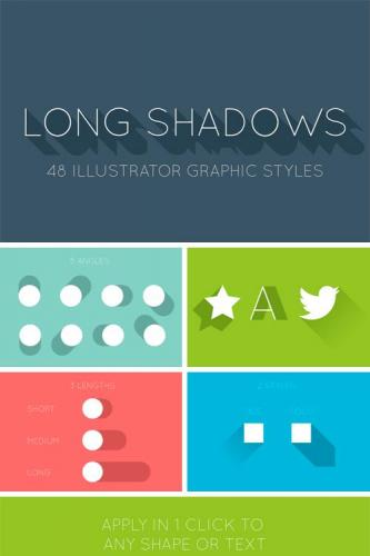 48 Long Shadow Graphic Styles