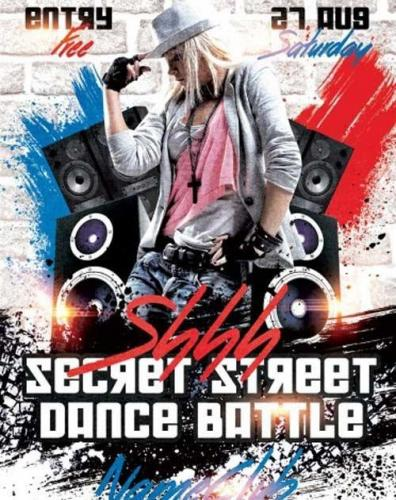 Shhh Secret Dance Battle PSD Flyer