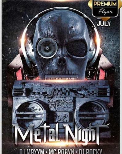 Metal Night Flyer PSD Template