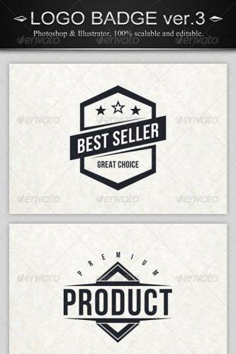 6 Vintage Logo Badges ver.3