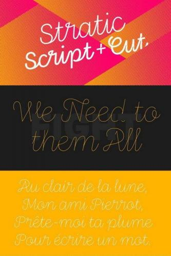 Stratic Script Font Family